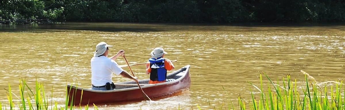 Canoeing on Saugeen River Walkerton